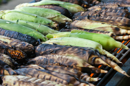 Grill Corn with Herbs