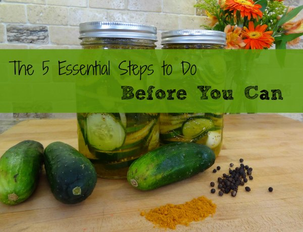 5 Essential Things to do before Canning