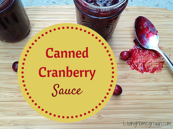 Canning Cranberry Sauce - LivingHomegrown.com
