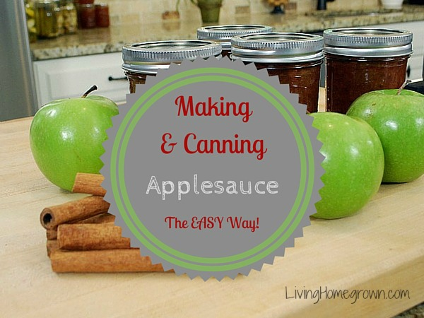 Easy Homemade Applesauce - LivingHomegrown.com