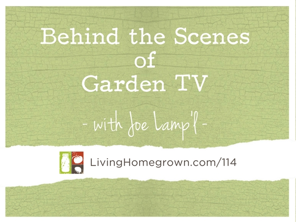 Behind the Scenes of Garden TV with Joe Lamp'l at LivingHomegrown.com