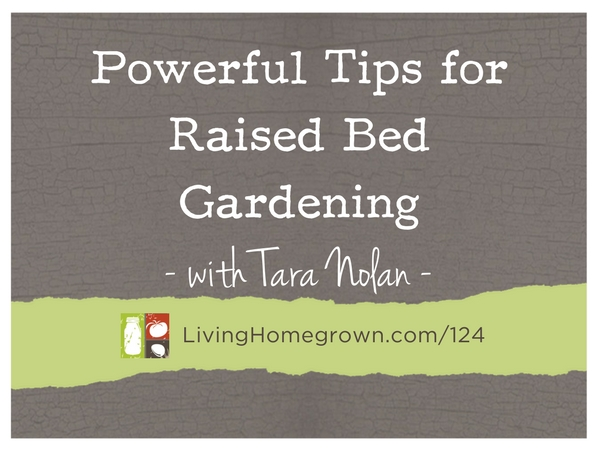 Powerful Tips for Raised Bed Gardening with Tara Nolan at LivingHomegrown.com